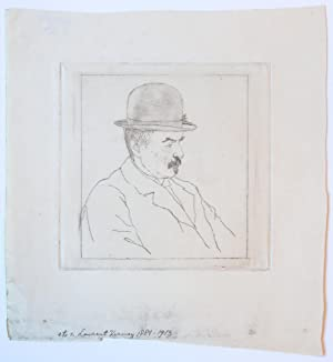 Man with bowler hat (man met bolhoed).