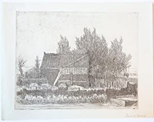 Landscape with farm house beyond a canal (landschap met boerderij en water).