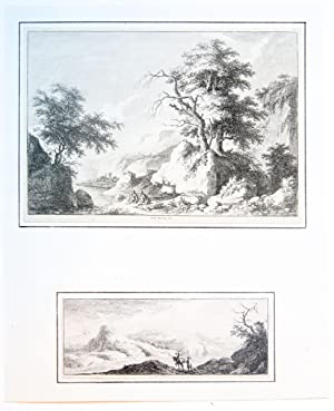 Two plates with landscapes.