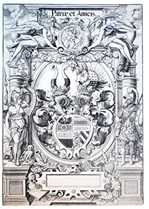 The arms of the family Pfinzing-Grundlach: Patriae et Amicis (familiewapen).