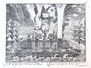 The fireworks in honor of king William III's visit to The Hague in 1691. (Vuurwerk voor Koning Wi...