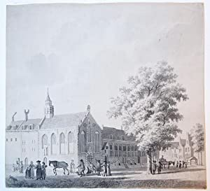 The Orphanage in Haarlem (Weeshuis Haarlem). The 'Heilige Geesthuis' or City orphanage, on the Kr...