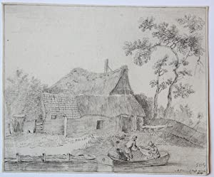 River landscape with fishermen (Rivierlandschap met vissers).