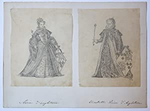 Mary I and Elizabeth I of England.