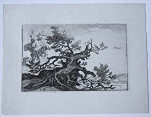 Etching/ets: Landscape with trees (Landschap met bomen).