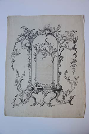 [Antique drawing/ tekening] Designs for a Mirror with Consolle and a fireplace (ontwerpen voor sp...