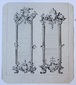 [Antique drawing/ tekening] Designs for Two Mirrors and a Door (Ontwerpen voor spiegels en een de...