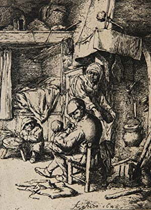 [Original etching/originele ets] Genre scene (Family in an interior)/Familie in interieur.