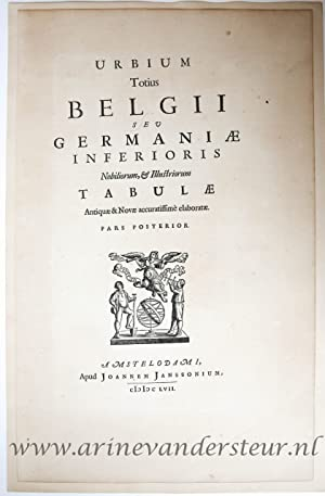 [Letterpress and woodcut/Drukwerk met houtsnede] URBIUM Totius BELGII SEV GERMANIAE INFERIORIS.