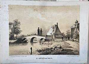 [Lithographie of De Watergraafsmeer] Original lithography/Originele lithografie/Antique print/pre...