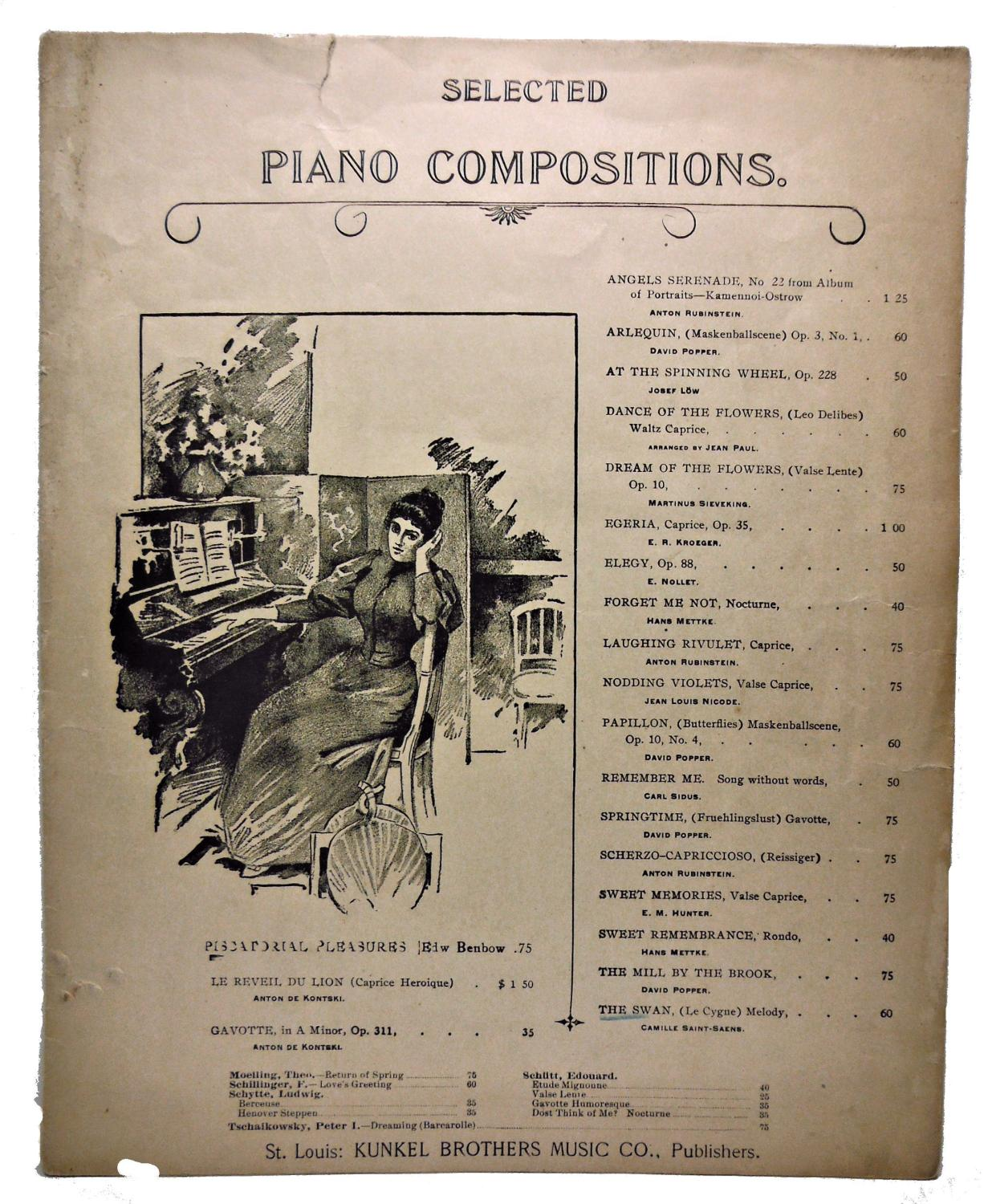 SELECTED PIANO COMPOSITIONS, THE SWAN, (Le