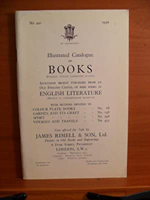 No. 290, 1936 Illustrated Catalogue of BOOKS: JAMES RIMELL &