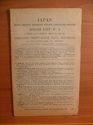 JAPAN HISTORY, ETHNOLOGY, ARCHAEOLOGY, FINE ARTS, LANGUAGE: PAUL GEUTHNER