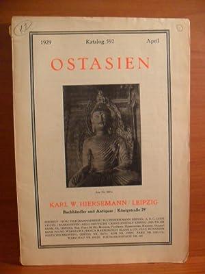 1929 Katalog 592 April, OSTASIEN: KARL W. HIERSEMANN