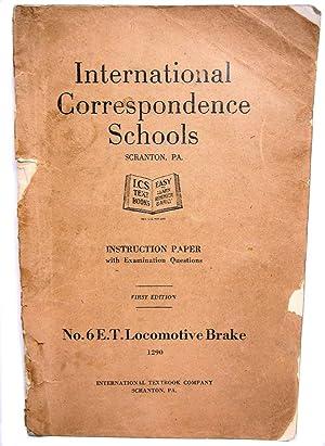 International Correspondence Schools Instruction Paper with Examination: International Textbook Co.