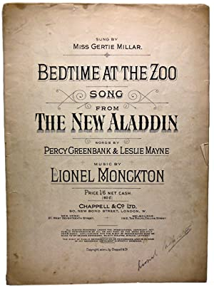 BEDTIME AT THE ZOO SONG FROM THE: WORDS BY PERCY