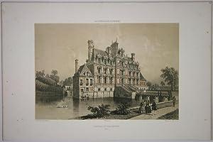 Chateau de Beaumesnil (La Normandie illustrée): Ciceri, Eug./ Benoist