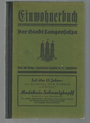 Einwohnerbuch der Stadt Langensalza. Bearbeitet nach den amtlichen Unterlagen des ...