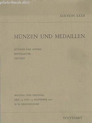 Münzen und Medaillen. Münzen der Antike. Mittelalter: Kricheldorf, H. H.