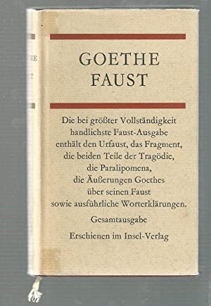 Faust. Gesamtausgabe.: Goethe, Johann Wolfgang von: