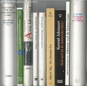 Konrad Adenauer. Konvolut 8 Bücher + CD. Neuwertig tlw. verlagsfrisch verschweißt.: ...