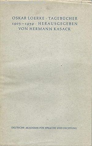 Tagebücher 1903-1939: Loerke, Oskar und
