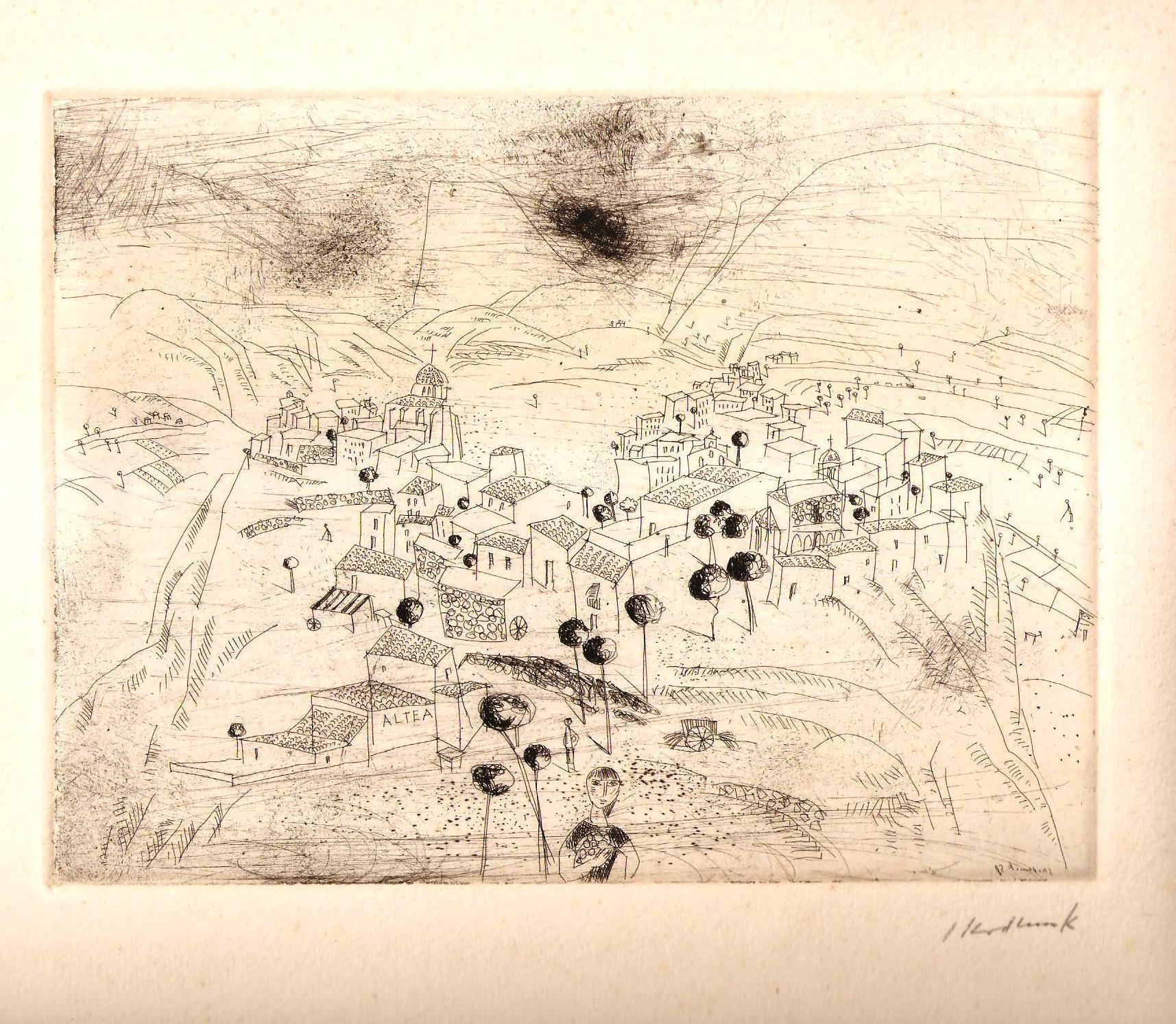 """Original-Radierung, signiert """"Altea"""": Skodlerrak, Horst (1920-2001)"""