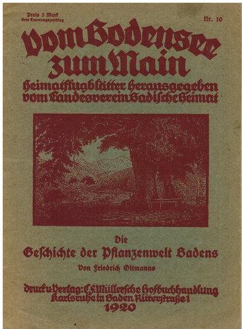 Vom Bodensee zum Main. - Die Geschichte: Oltmanns, Friedrich: