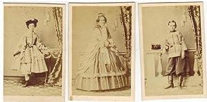 3 Original Photographien von Sophie, Alexander und der Comtesse Sophie Tolstoy (Tolstoi)