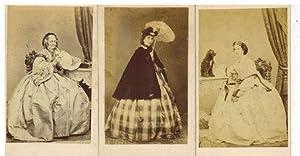 3 Original Photographien von Irene Reichlin, Baronin Reichlin und Baronin Hertling-Reichlin.