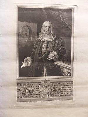 Porträt: Christophorus Jacobus Waldstromer de Reichesldorf et Schwaig. Sac: Caesar:Maiestatis,...