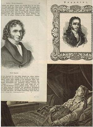 3 Holzschnitte (-stiche): 2 Porträts (1 v. AM Adolph Menzel ?) 1 Darst. auf dem Sterbebett (G....