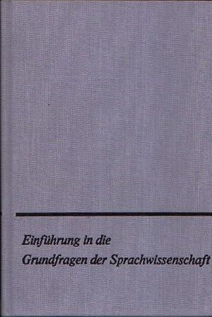 Einführung in die Grundfragen der Sprachwissenschaft: Bondzio, Wilhelm: