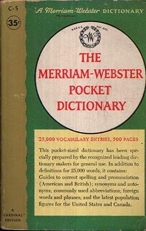 The Merriam-Webster Pocket Dictionary 25,000 Vocabulary Entries,: Redaktion des G