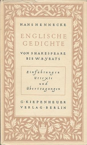 Englische Gedichte Von Shakespeare Bis W B