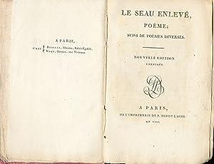 Le Seau enlevé, poeme; suivi de poésies