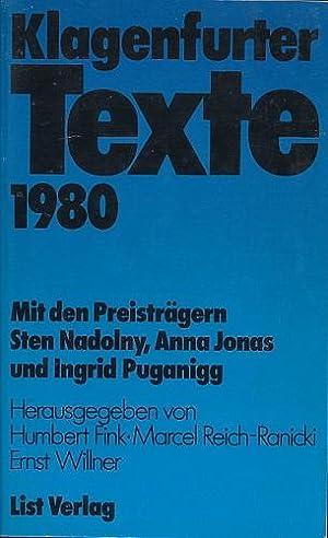 Klagenfurter Texte zum Ingeborg-Bachmann-Preis 1980. Mit den
