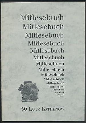 Mitlesebuch 50: Lutz Rathenow. Grafik: Wolfgang Nieblich.