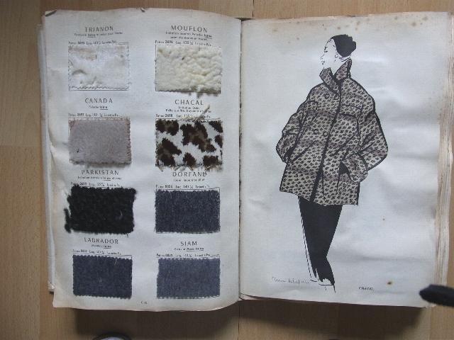 Les dernieres Creations Textiles de C.S. et Fils. 1954 - 55.: Mode - Stoffmusterbuch - Crepatte ...