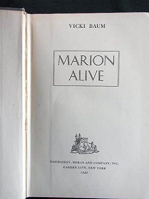 Marion Alive.: Baum, Vicki: