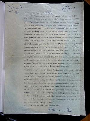 Masch. Brief m. eigener Unterschrift.: Böll, Heinrich, 1917 - 1985.