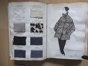 Les dernieres Creations Textiles de C.S. et Fils. 1954 - 55.: Stoffmusterbuch - Crepatte Strauss & ...