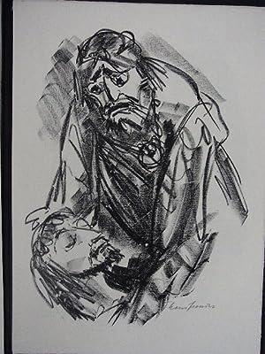 """Saul und David in der Höhle. Szene aus dem Drama """"Saul"""".: Zweig, Max:"""