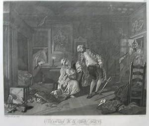 "1697 - 1764). ""Marriage a la Mode"". Plate V.: Hogarth,William."