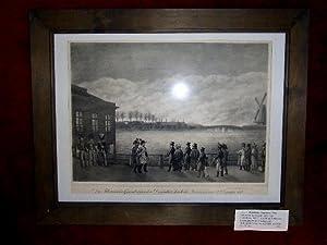 """Das Abbrennen der Gegend außer dem Dammthore, 1813"""".: Hamburg - Dammtor."""