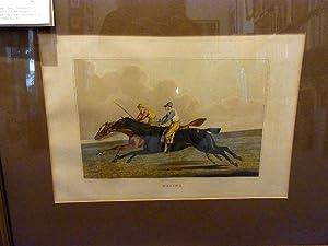 """Racing"""". (Zwei Rennpferde mit ihren Jockeys im Galopp).: Alken,Henry."""
