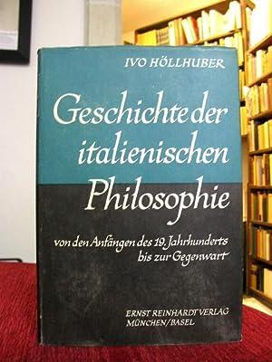 Geschichte der italienischen Philosophie: Höllhuber,I.: