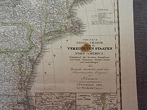 Young's Reise-Charte durch die Vereinigten Staaten von Nord America.: USA -