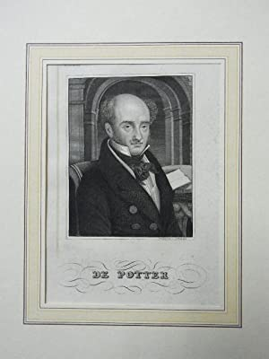 Stahistichportr. v.Bahmann um 1850,: Porträt - De Potter.
