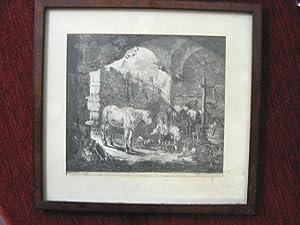 """Pferde u. Schafe in Ruinenlandschaft"""").: Roos, Johann Heinrich: (1631 Reipoltskirchen - 1685 ..."""